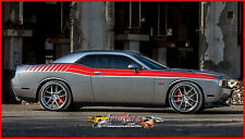 DODGE CHALLENGER DUEL FULL FS GRAPHIC DECAL FACTORY STRIPE 2008 TO 2010