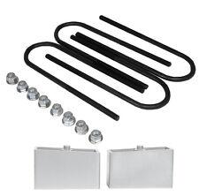 "3"" aluminum lowering blocks & rear axle u bolts drop kit fits chevy S10 Sonoma"