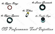 Toyota I4 Fuel Injector Service Repair Kit Orings Filters Pintle Caps CSKDE14