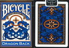 BLUE Bicycle Dragon Deck Playing Cards 309 blue gold red magic air cushion Poker