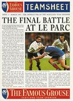 FAMOUS GROUSE TEAMSHEET Mar 1997 RUGBY NEWSLETTER OF SCOTLAND SPONSOR