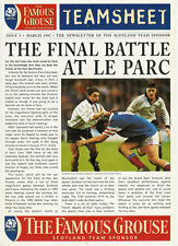 FAMOUS GROUSE TEAMSHEET Mar 1997 RUGBY NEWSLETTER OF SCOTLAND SPONSOR