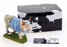 """Cow Parade Golfer Cow Figurine 47841 Prague 2004 Eva Vitova NIB Medium 6"""" x 4"""""""