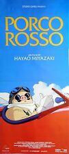 locandina playbill PORCO ROSSO Hayao Miyazaki Il maiale cremisi ANIME MANGA