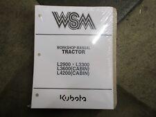 Kubota L2900 L3300 L3600 L4200 tractor service & repair manual