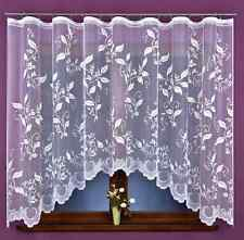 Amazing New White Ready Made Jacquard Net Curtain Leaves Home Window decoration