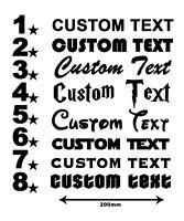 Custom Make TEXT Personalised Sticker Custom Make Lettering Car Van Funny Shop