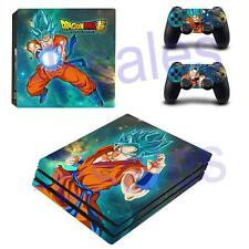PS4 Pro Console Skin Decals Son Goku Dragon Ball Z Vinyl Stickers Controllers