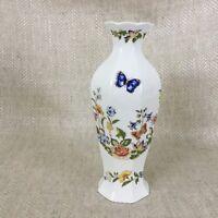 Aynsley Cottage Giardino Ottagonale Vaso Farfalle Inglese Osso Cina