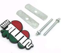 Biscione tricolore in metallo 9x5cm con supporti griglia Alfa Romeo MiTo 147 156