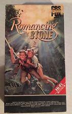 ROMANCING THE STONE, MICHAEL DOUGLAS, KATHLEEN TURNER, CBS/FOX 1984 VHS