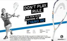 2016 HEAD Graphene XT Cyano 110 squash racket racquet + ball + grip