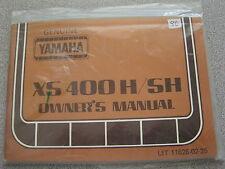 Yamaha Owners Manual 1980 XS400