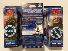 SEALED 3x Star Wars Miniatures DARK TIMES Booster Pack Lot NEW Random Box Art