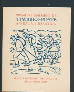 XC76995 Luxembourg imperf first stamp after the liberation XXL sheet MNH