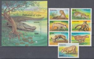 D.Tanzania 2210-16 + Block 302 Crocodile Leopard Etc. (MNH)