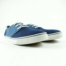 TOMS Men Size 9 Blue Heritage Canvas Lace Up Carlo Sneaker