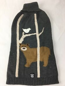 Petrageous Acadia Bear Dog Sweater Gray - Large - NEW with tags - Free Shipping