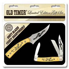 Schrade Sharpfinger knife Stockman pocket knife Limited Edition Deer Scrimshaw