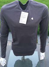 Original Apple Langarm-Shirt Mitarbeiter Neu, Größe S Grau