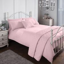 Pinsonic Pink Bedding Set & Pillow Cases Sleepdown Duvet Set Single Double King