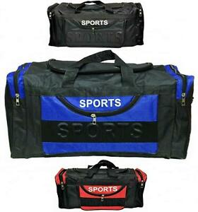 Mens EXTRA LARGE BIG Sports & Gym Bag Duffel holdall Bag TRAVEL BAG WORK BLACK