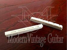 "2  Modern Vintage Guitar Slotted White GRAPHITE Nuts  42mm  1 5/8"" -1 11/16"""