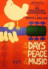 1960s Woodstock poster logo replica magnet - new!