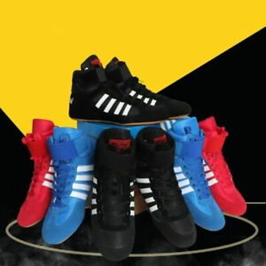 Boxing MMA Wrestling Boots Athletic Sports Gym Training High Top Boxing Shoes