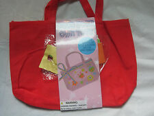 Red Purse craft kit~Decorate your own Tote bag~Butterfly Ladybug Star~LBDEO