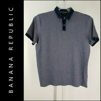 Banana Republic Men Polo Shirt Size XL Short Sleeve Blue