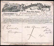1888 Saint John New Brunswick - Intercolonial Railway - Canada Letter Head Rare