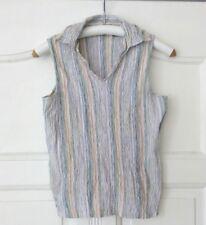Austin Clothing Co.  USA Stretch Top Polo-Shirt Damenbluse ärmellos Gr.M
