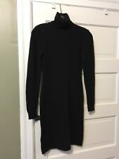 Ralph Lauren Black Label Wool blend Sweater Dress Turtleneck Women's size S Blk