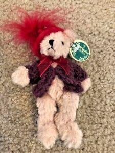 "BEARINGTON COLLECTION BEAR 5"" LADY SCARLET #1852 Christmas Ornament Retired"