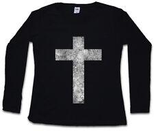 CHRISTIAN CROSS II WOMEN LONG SLEEVE T-SHIRT Christliches Kreuz Jesus