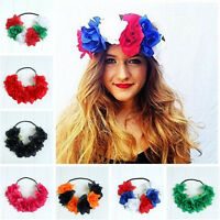 Large Rose Flower Forehead Hair Headband Hair Crown Summer Girl Festival Garland