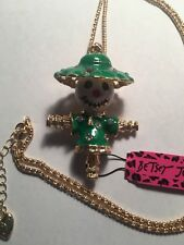 Green scarecrow necklace-Bj226 Betsey Johnson crystal lovely
