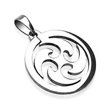 1 - Cool Whirl Wind Laser Pendant Girls Stainless Steel P22