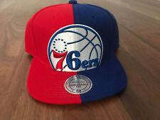 Philadelphia 76ers NBA Mitchell & Ness Team Color SPLIT Crop Snapback Hat Cap