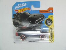 DODGE CHARGER 1970 BLACK FAST & FURIOUS OFF ROAD HOT WHEELS MINT ON CARD