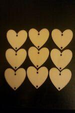 20 Wooden Hearts Holes 3x3cm Wedding Crafts