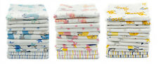ClevereKids 12er Pack Mulltücher bunt bedruckt Stoffwindeln Mullwindeln OEKO-TEX