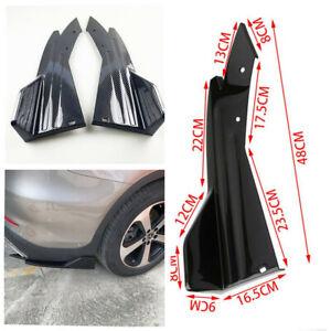Car Bumper Body Side Skirt Diffuser Spoiler Glossy Carbon Look Anti-crash Wings