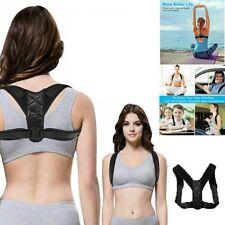 Gym Fitness Upper Back Support Posture Corrector Black Strap Support x