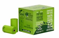 New listing Unni 100% Compostable Pet Poop Bags, Dog Waste Bags, 270-Count, 18 Refill Rolls,