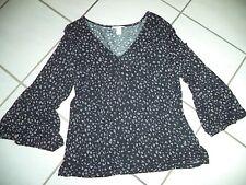 H&M Damen Bluse/Shirt/Tunika Gr.M - 40-42 - Flower Mix - schwarz/bunt  - NEU***