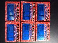 Lot of (6) 1991 Topps T2 TERMINATOR 2 STICKERS Sealed WAX PACKS Schwarzenegger