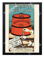Historic Impervious Safety Oil Can Advertising Postcard
