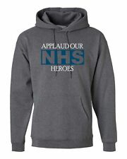 APLLAUD NHS HEROES, PERSONALISED HOODIE CUSTOM HOODED MEN T SHIRT TOP DESIGN